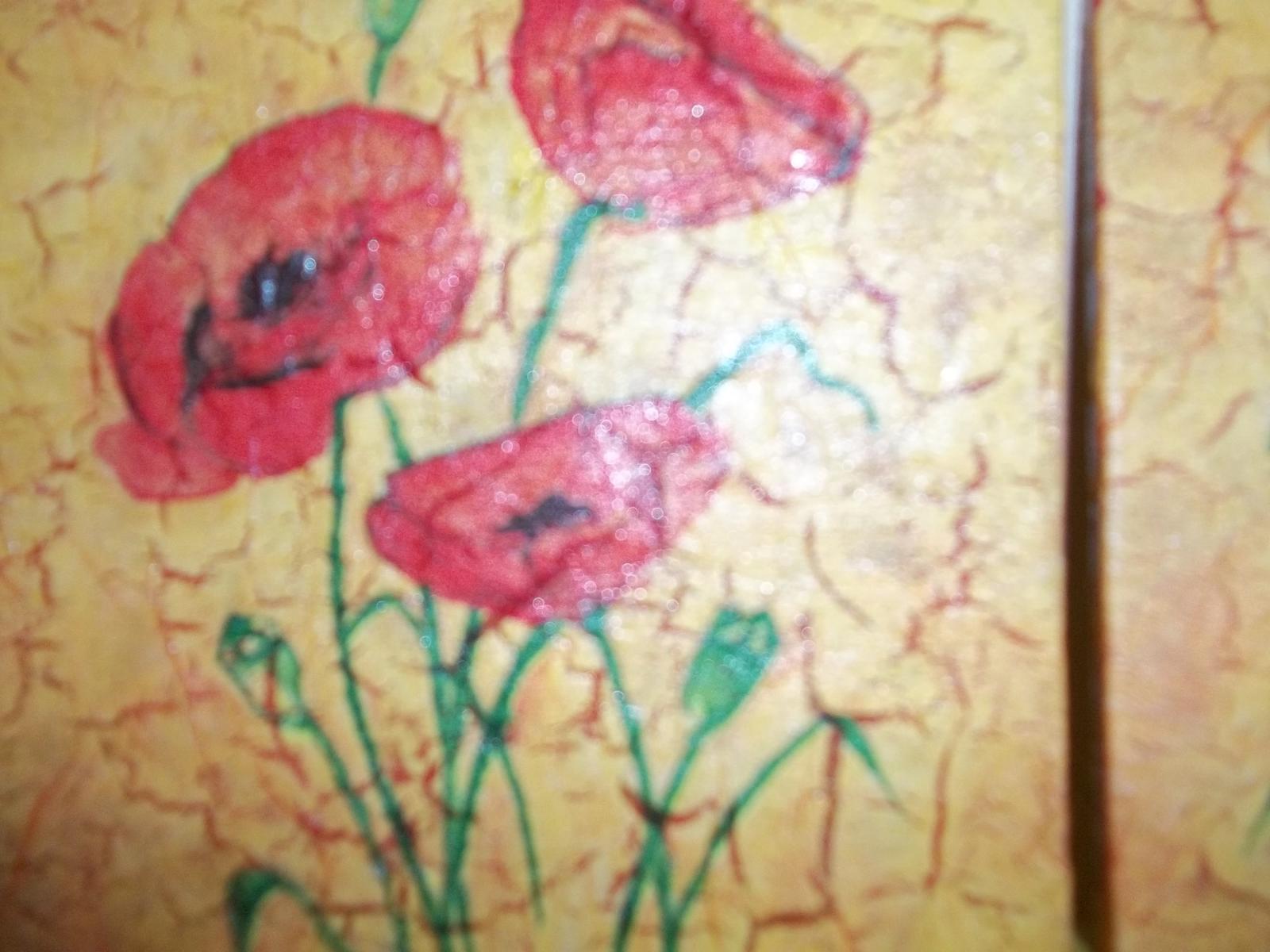 Dva obrázky s vlčími makmi, cena spolu - Obrázok č. 2
