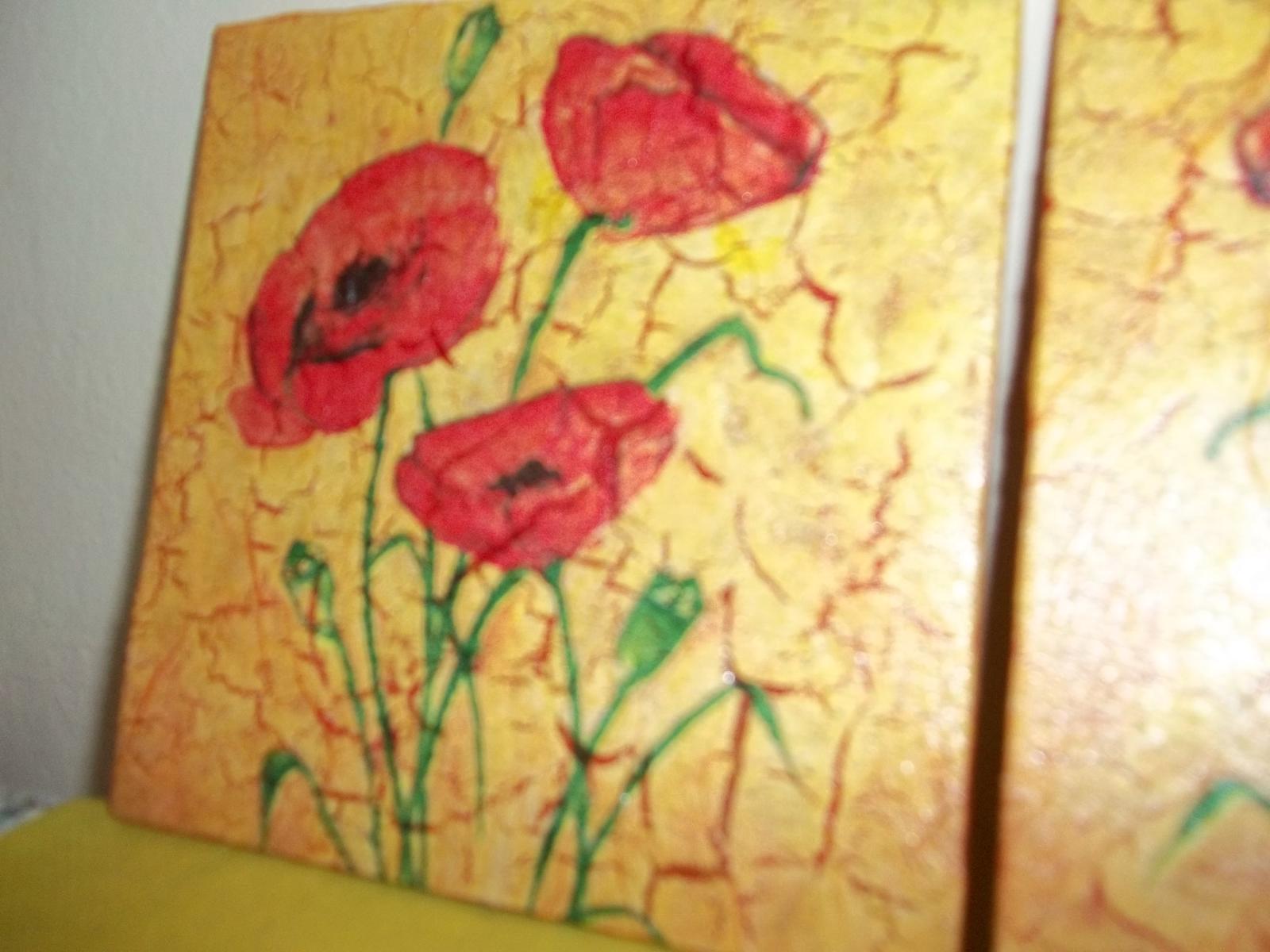 Dva obrázky s vlčími makmi, cena spolu - Obrázok č. 3