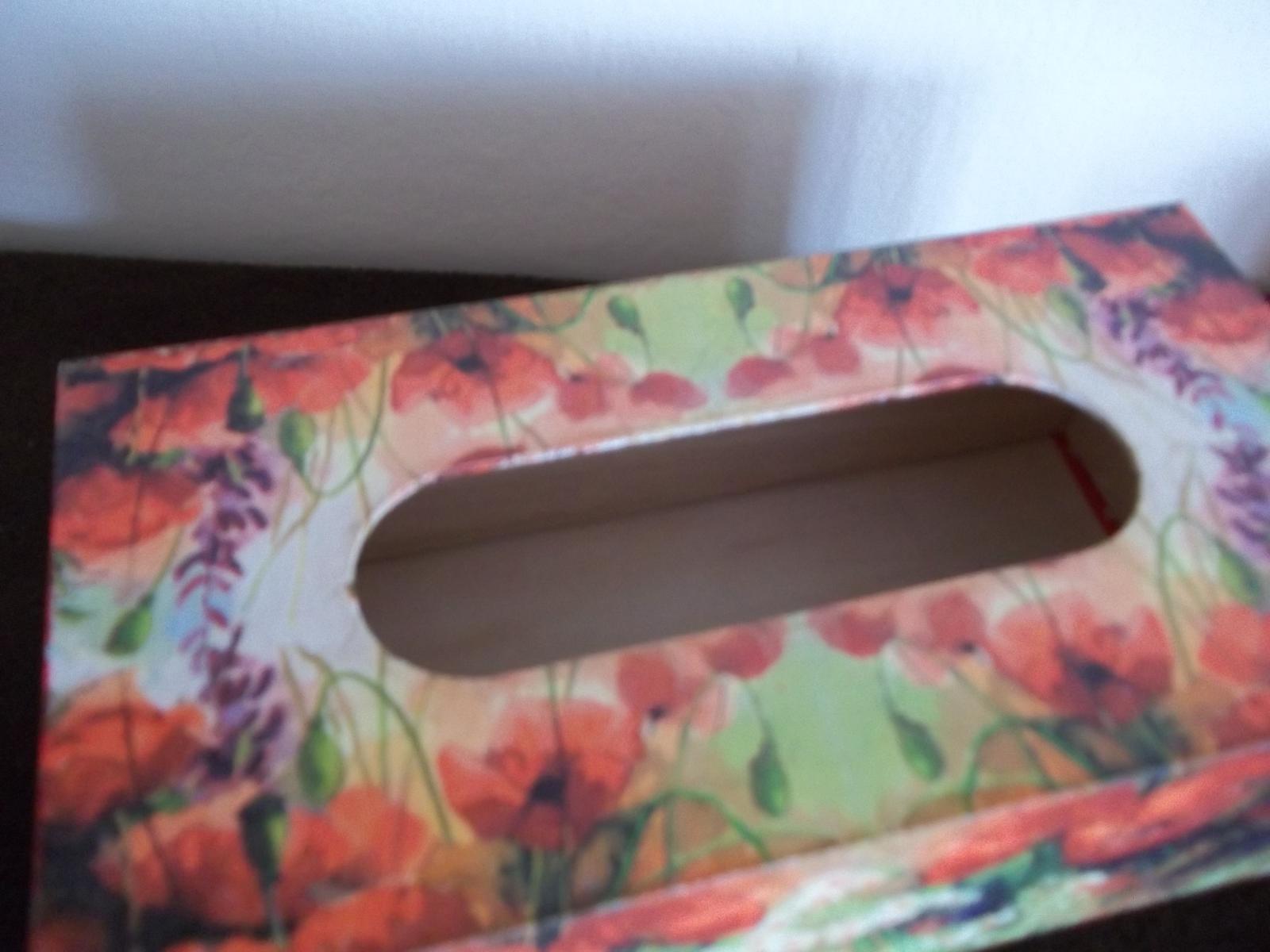 Drevená krabička na obrúsky - Obrázok č. 3