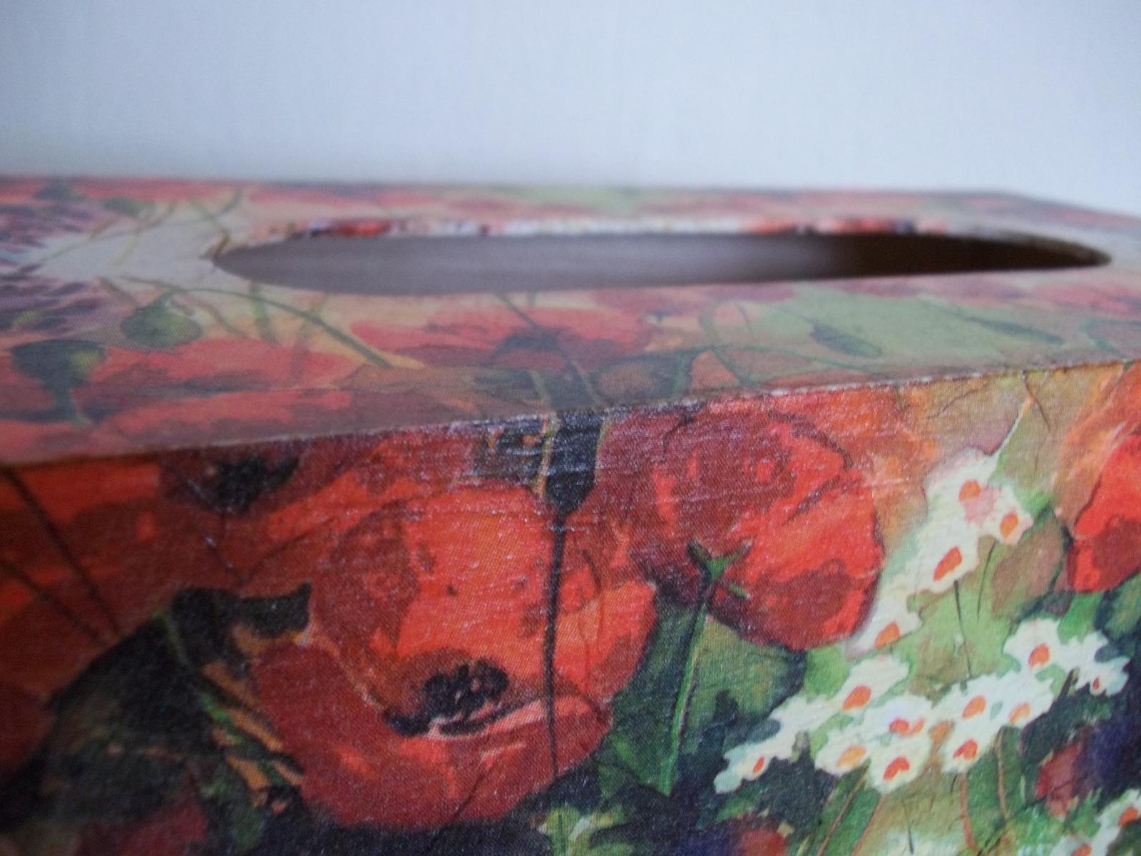 Drevená krabička na obrúsky - Obrázok č. 4