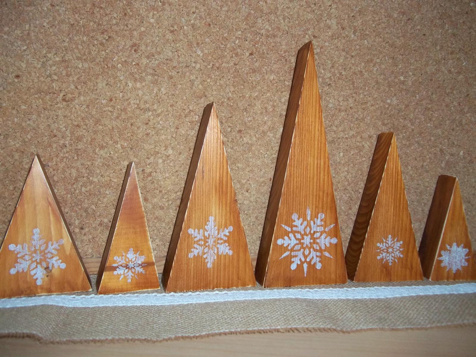 Sada drevených stromčekov,cena spolu - Obrázok č. 3