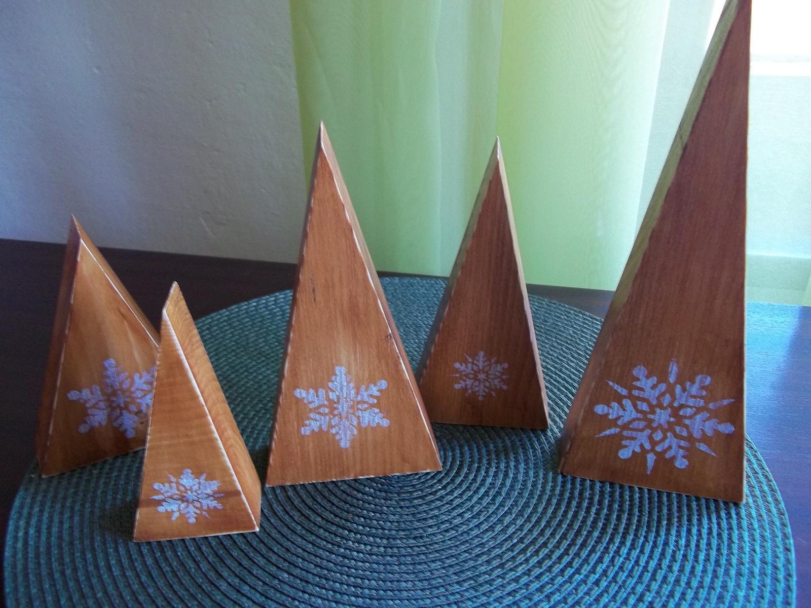 Sada drevených stromčekov,cena spolu - Obrázok č. 2