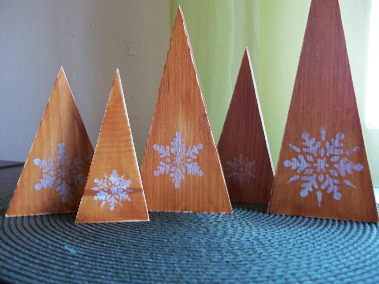 Sada drevených stromčekov,cena spolu - Obrázok č. 1