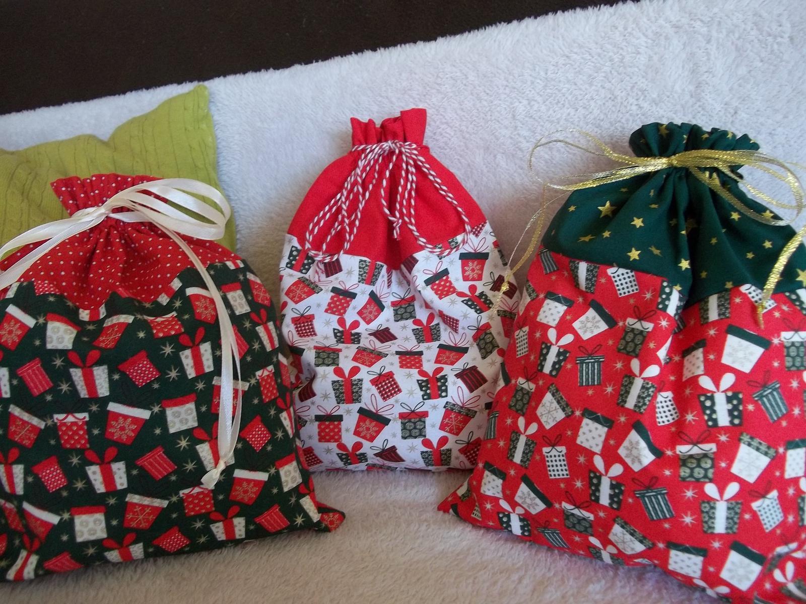 Bavlnené mikulášsko/vianočné vrecúško - Obrázok č. 1