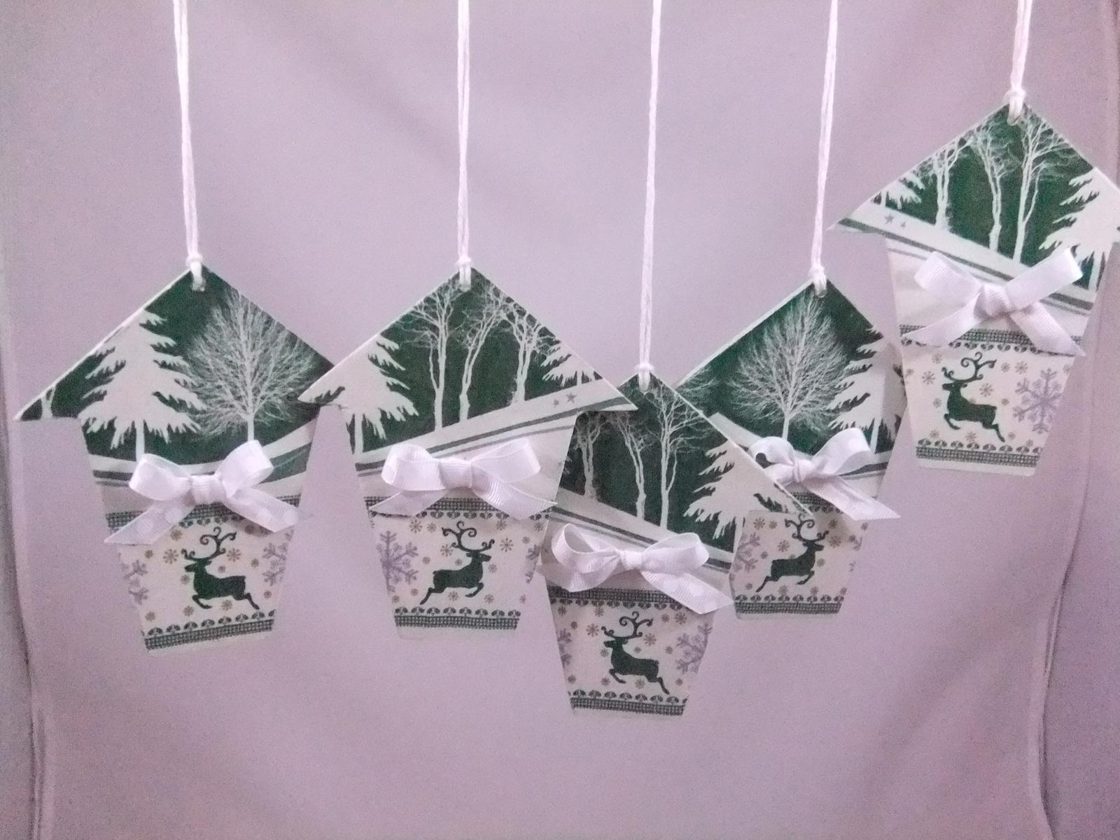 Zimná dekorácia,sada 5ks,cena  s poštovným - Obrázok č. 1