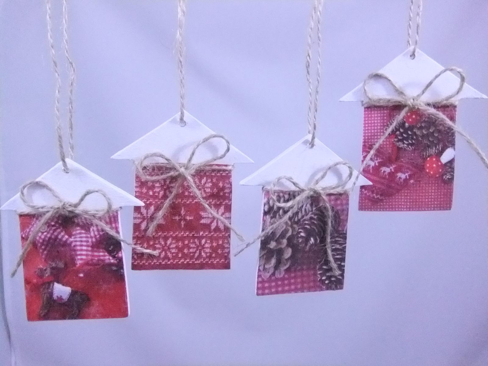 Vianočné domčeky,cena spolu za 4ks s poštovným - Obrázok č. 2