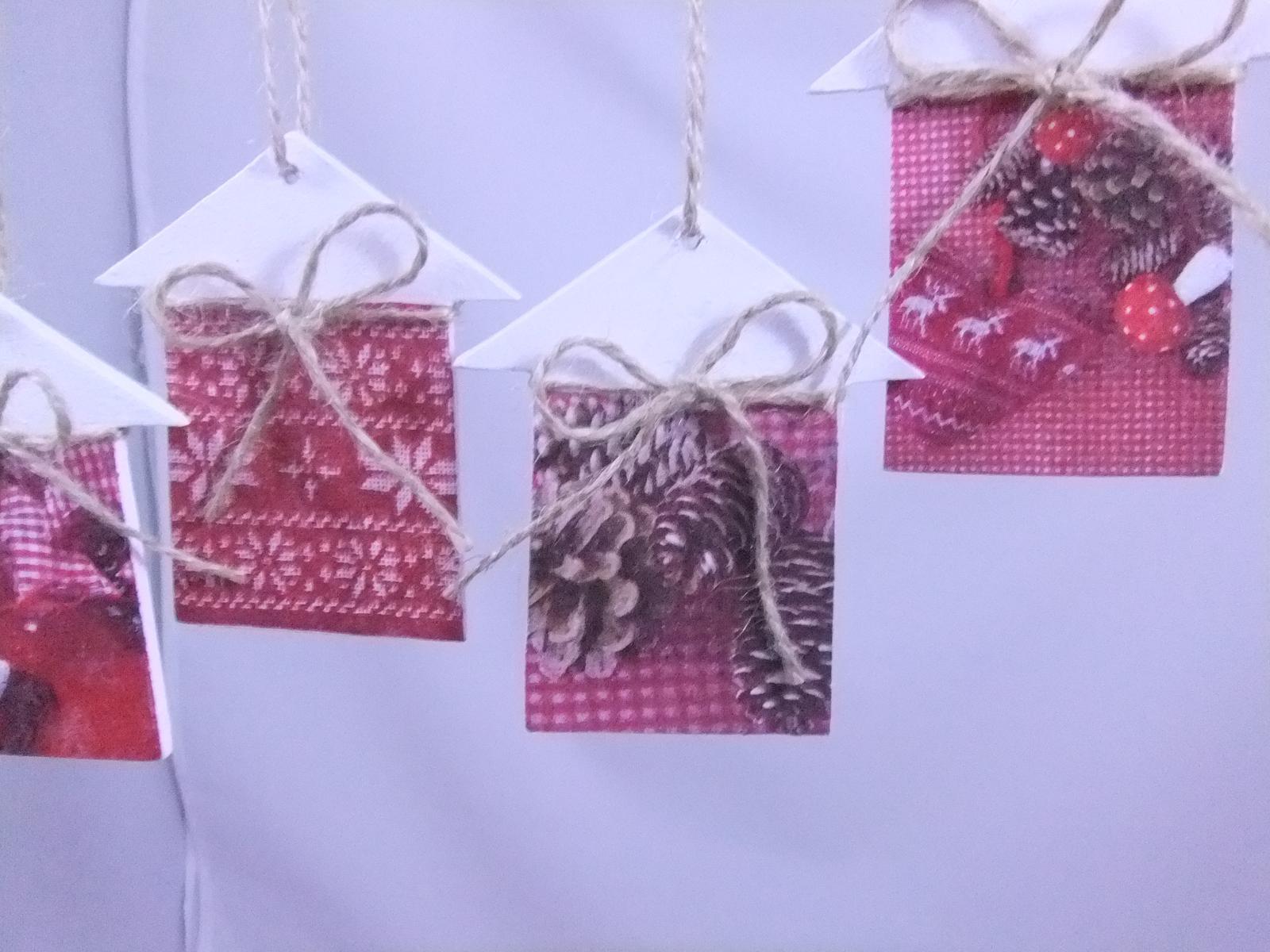 Vianočné domčeky,cena spolu za 4ks s poštovným - Obrázok č. 3