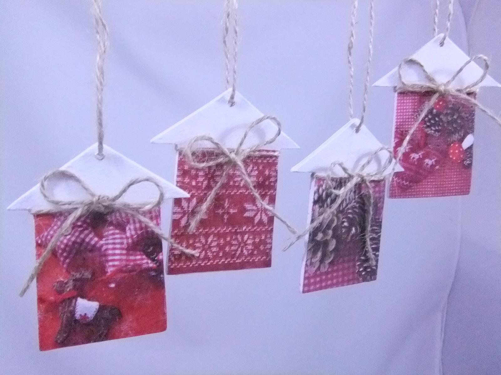 Vianočné domčeky,cena spolu za 4ks s poštovným - Obrázok č. 4