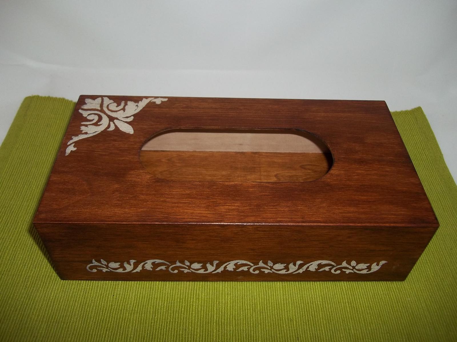 Drevený zásobník na vreckovky, cena s poštou - Obrázok č. 1