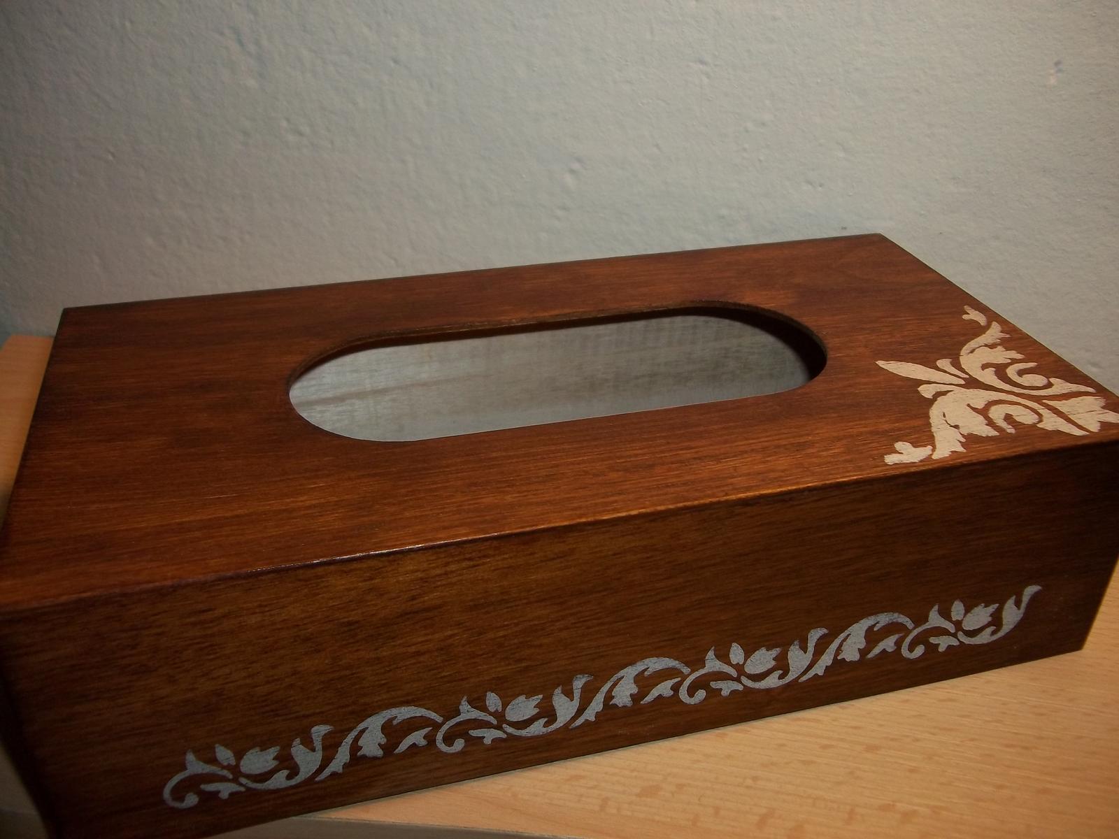 Drevený zásobník na vreckovky, cena s poštou - Obrázok č. 3
