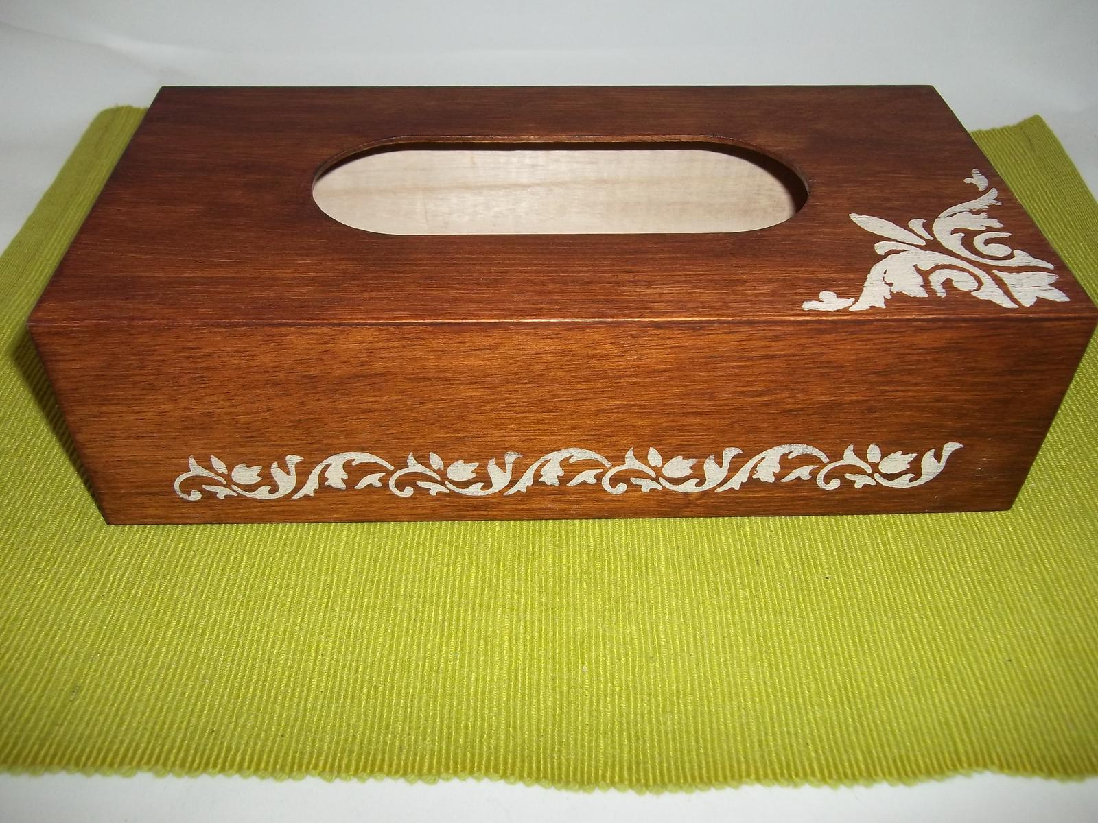 Drevený zásobník na vreckovky, cena s poštou - Obrázok č. 4