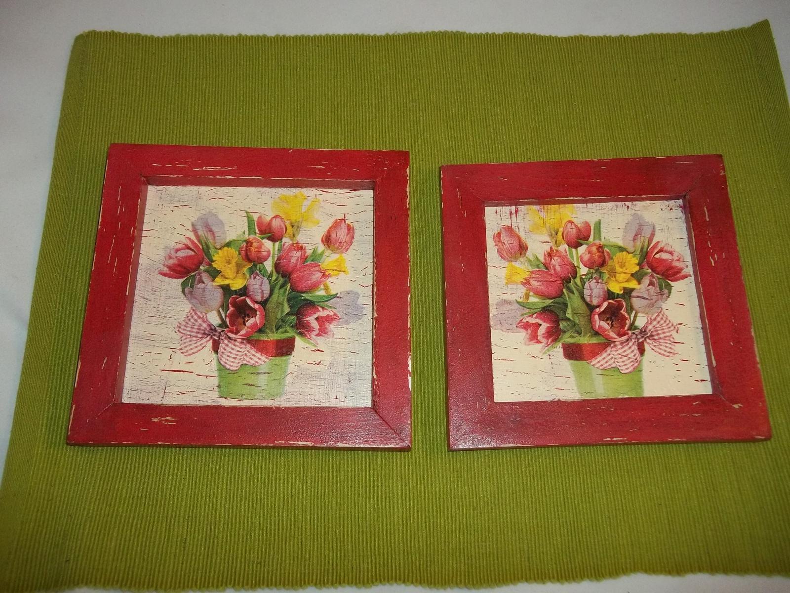 Dva obrázky v starožitnom vzhľade, cena s poštou - Obrázok č. 1