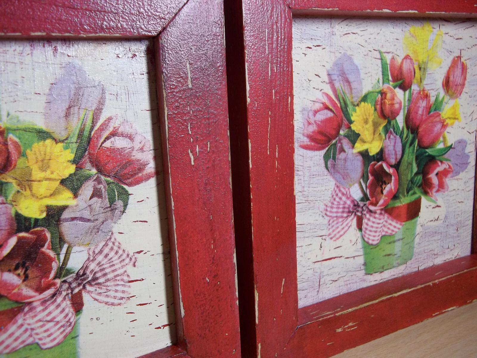 Dva obrázky v starožitnom vzhľade, cena s poštou - Obrázok č. 2