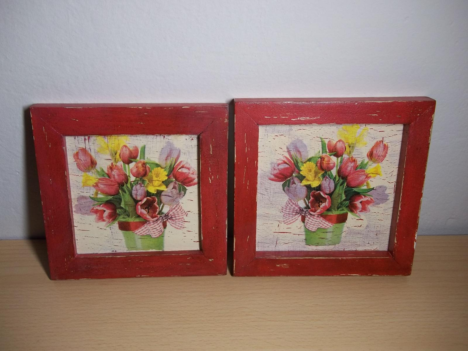Dva obrázky v starožitnom vzhľade, cena s poštou - Obrázok č. 3