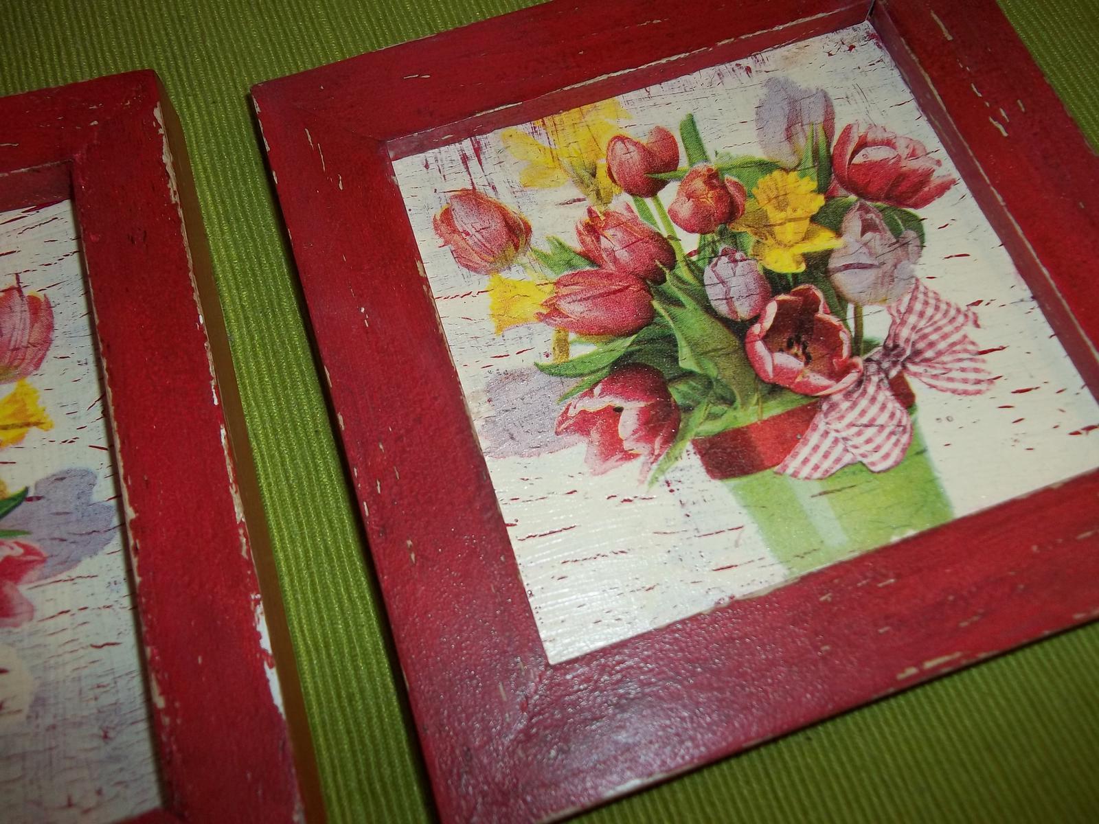 Dva obrázky v starožitnom vzhľade, cena s poštou - Obrázok č. 4