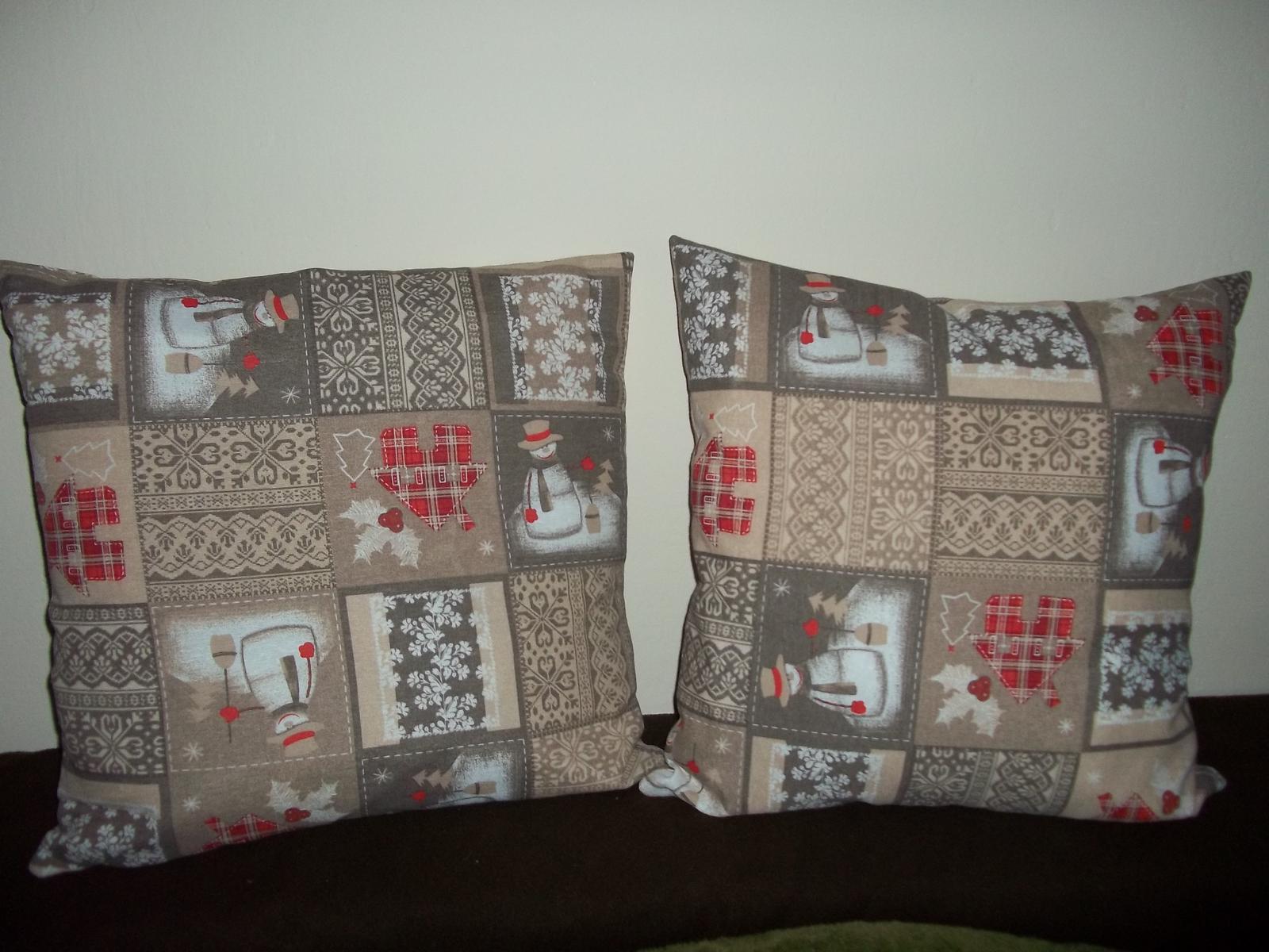 Obliečka na vankúš 50x50cm,zimný motív,cena s poštou - Obrázok č. 1