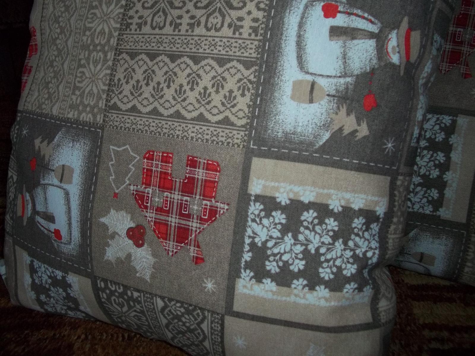 Obliečka na vankúš 50x50cm,zimný motív,cena s poštou - Obrázok č. 2