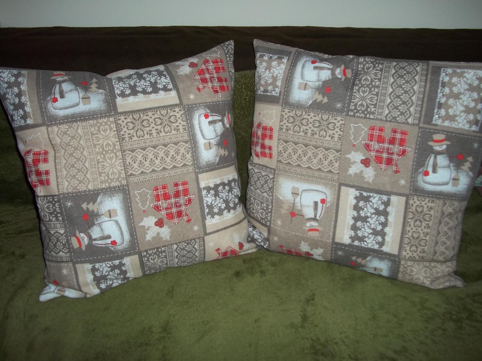 Obliečka na vankúš 50x50cm,zimný motív,cena s poštou - Obrázok č. 3