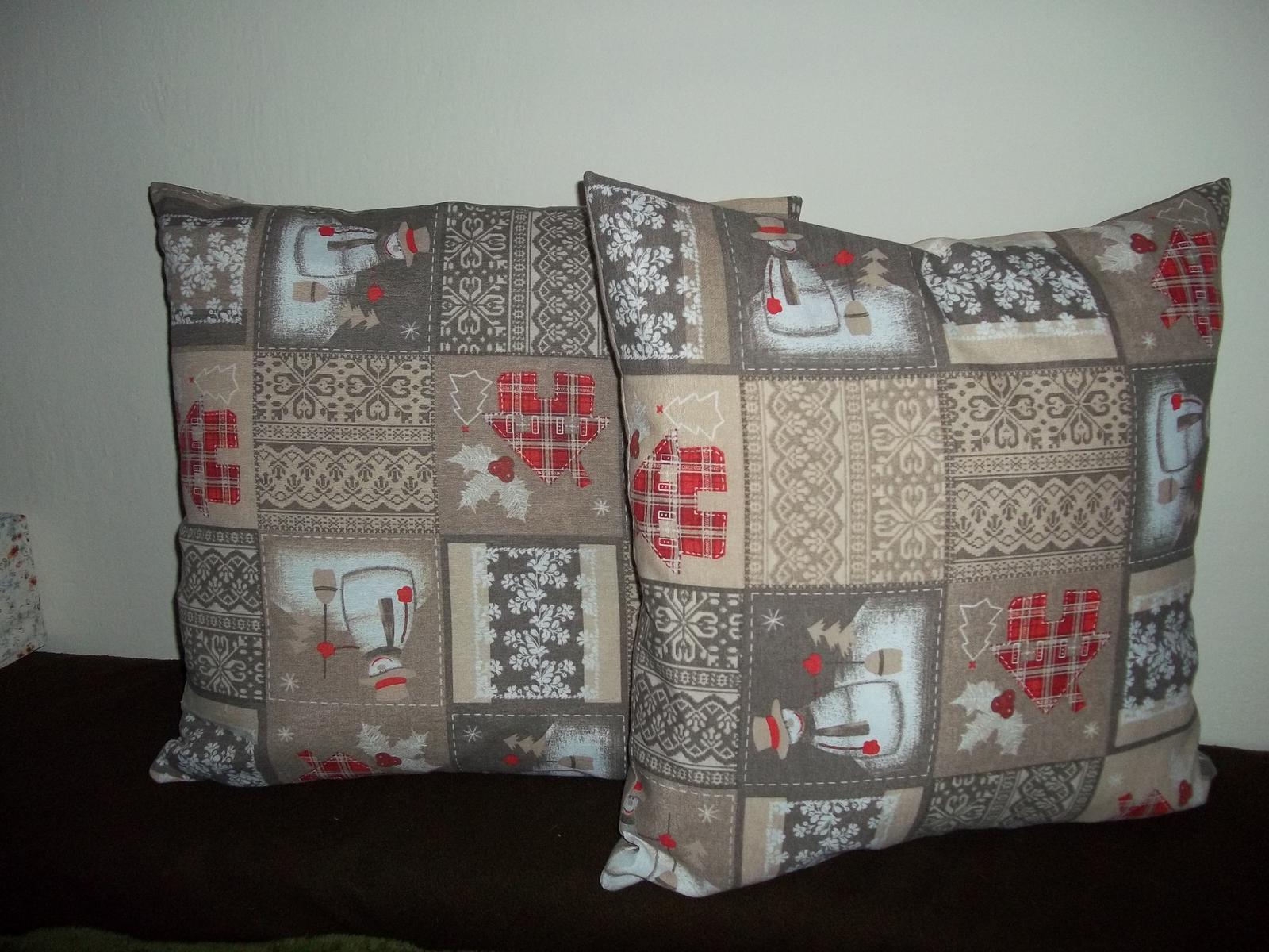 Obliečka na vankúš 50x50cm,zimný motív,cena s poštou - Obrázok č. 4