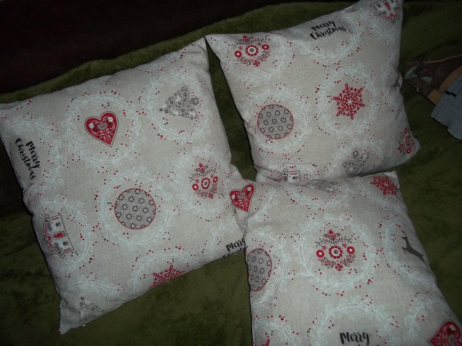 Sada 3 vianočných obliečok, v 2 veľkostiach,cena s poštou - Obrázok č. 1