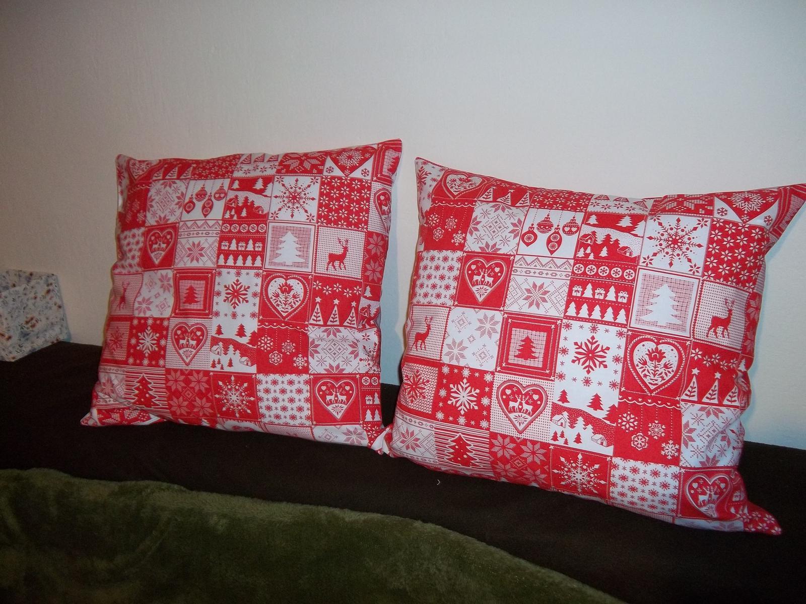 Sada dvoch väčších vianočných obliečok,cena s poštovným - Obrázok č. 1
