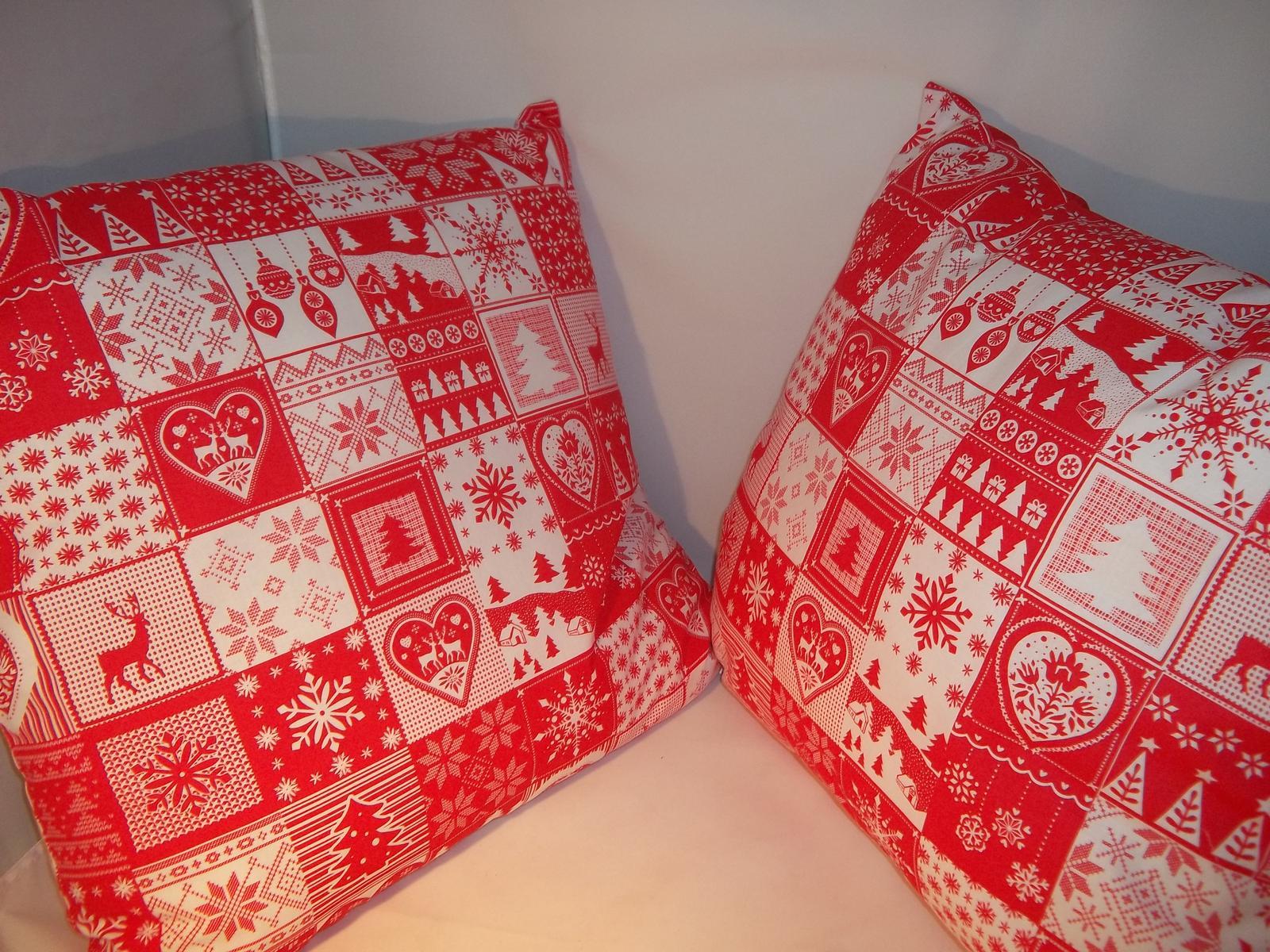 Sada dvoch väčších vianočných obliečok,cena s poštovným - Obrázok č. 2