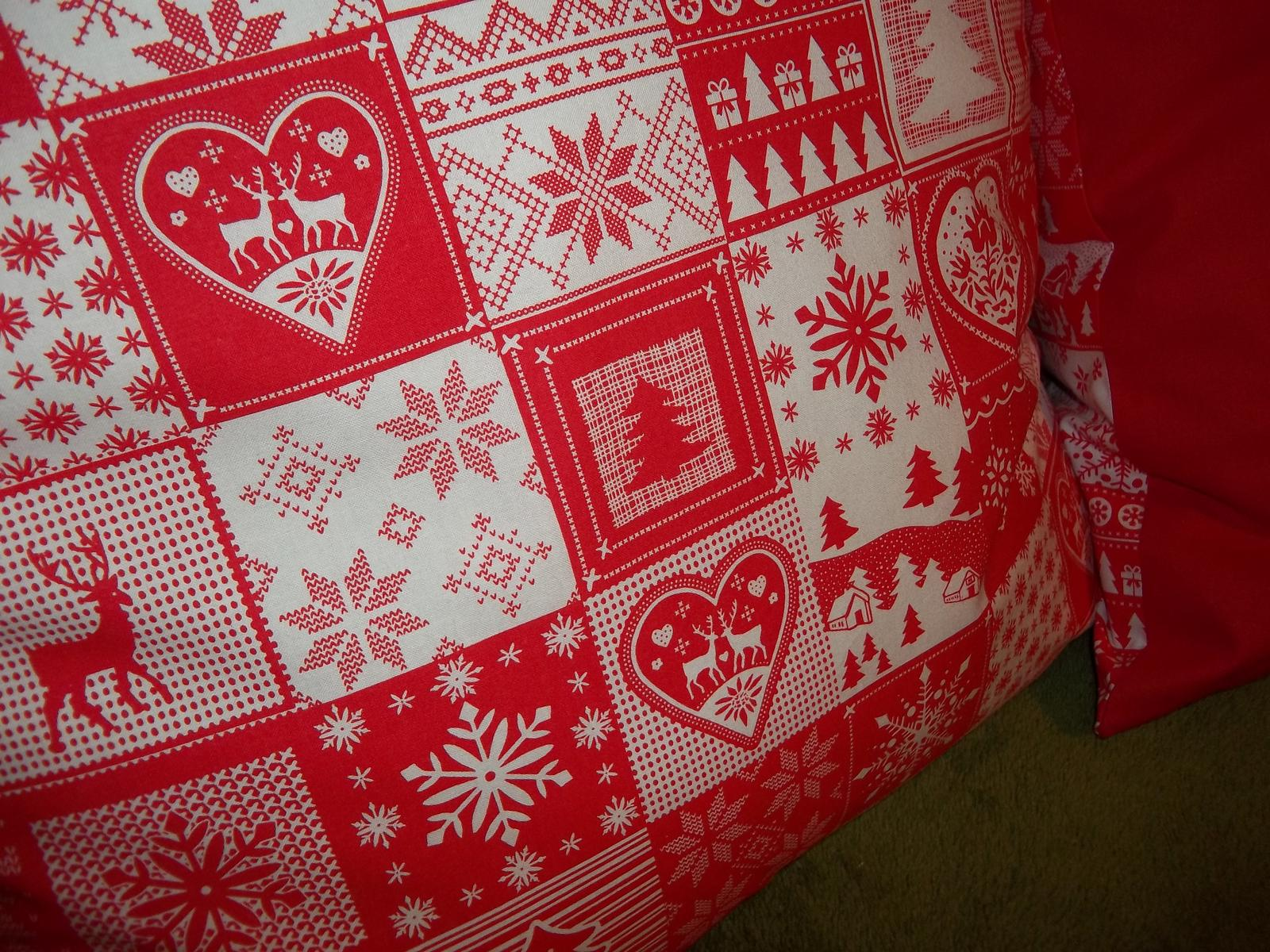 Sada dvoch väčších vianočných obliečok,cena s poštovným - Obrázok č. 3