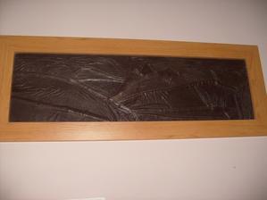 Obraz Pieninských Troch korún zo starého koženého kabáta
