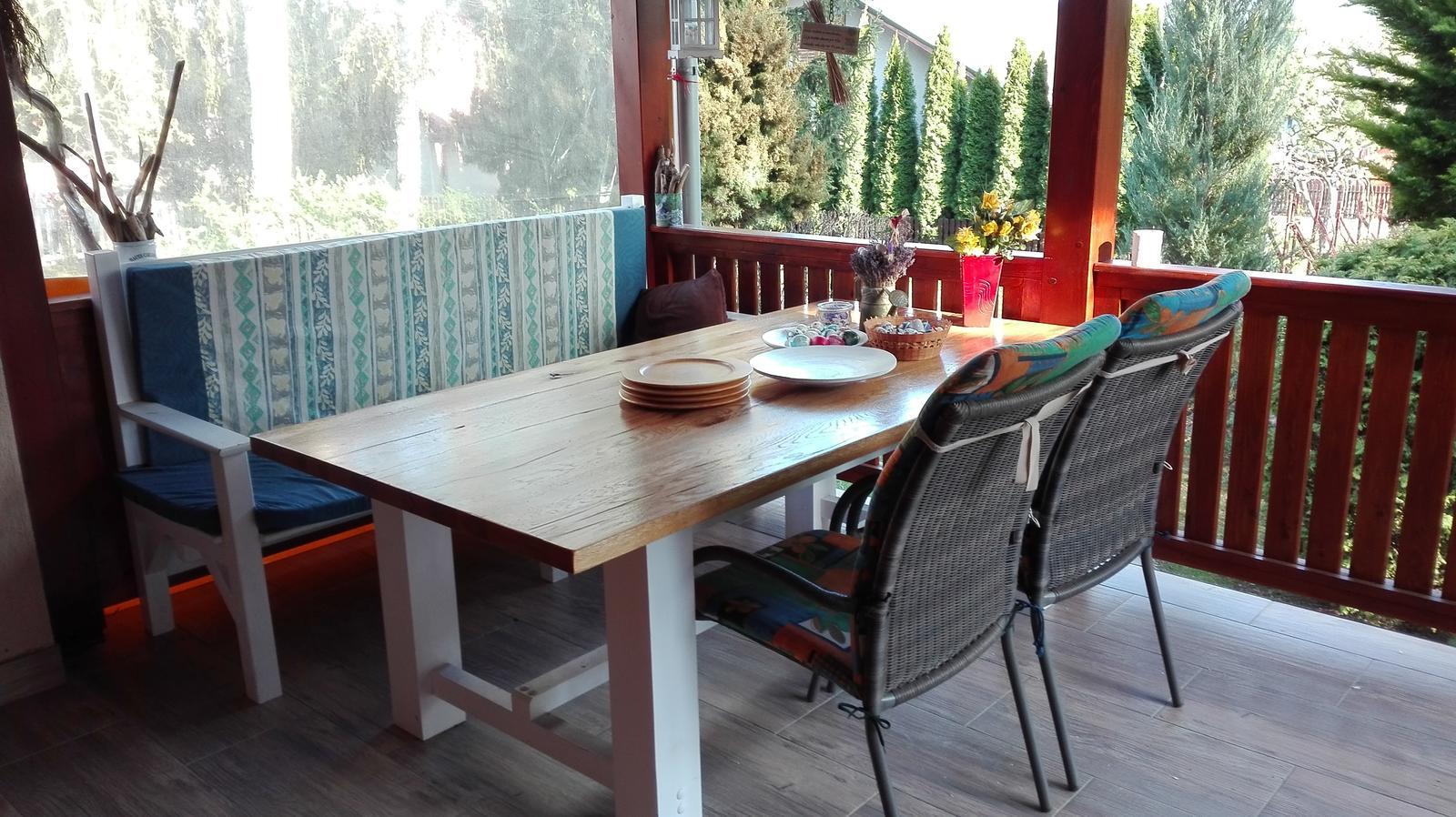 Naša vynovená kuchyňa a terasa na chalupe - Obrázok č. 44