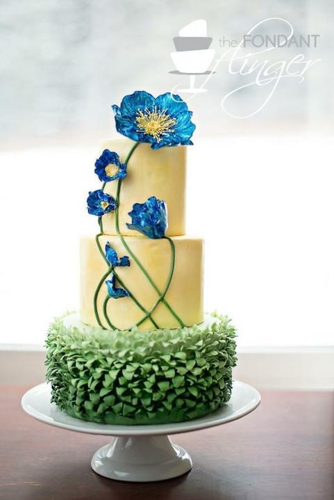 Predstavujem si & tvorím - tá tráva nie... ale kvety sú namakané :-)