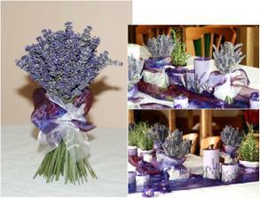levandule na stolech je úúúžasná! ale bohužel kvete později, než bude naše svatba