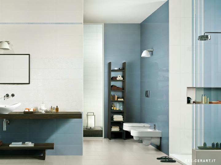 Ako si staviame sen - inšpirácie na kúpelňu - Cerim (IT) - seria Glossy Wallight / blu