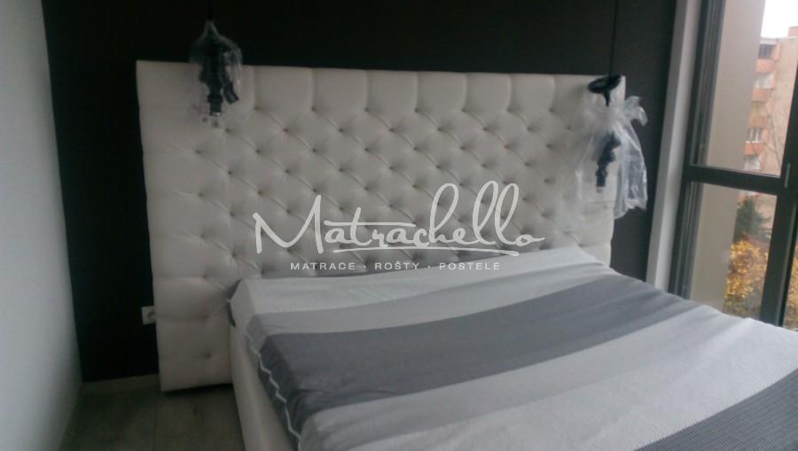 Referencie 2017 - Čalúnená posteľ z kolekcie Lazio Extra vo verzii s úložným priestorom 160x200, Vienna 1, 801