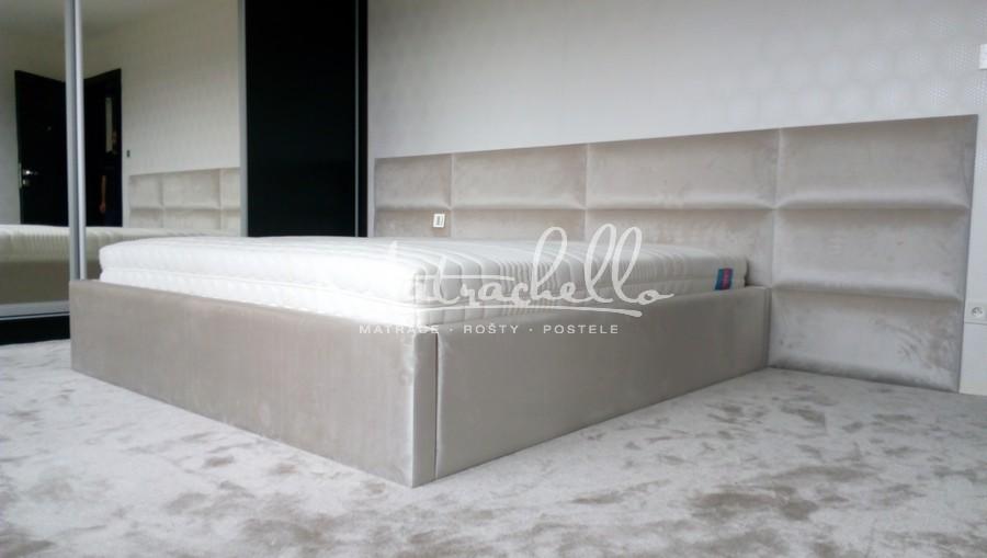 Referencie 2017 - Čalúnený rám postele + panel maxi plus - vypuklý 180x200, George Icicle 900, 1204