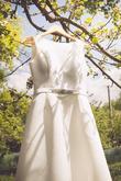 Krásna nevesta Majka mala od začiatku jasnú predstavu o svojich svadobnývh šatách :)