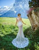 Svadobné šaty s čipkou, 34