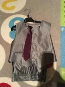 Nohavice s vestou+Fialová kravata ako darček , 104