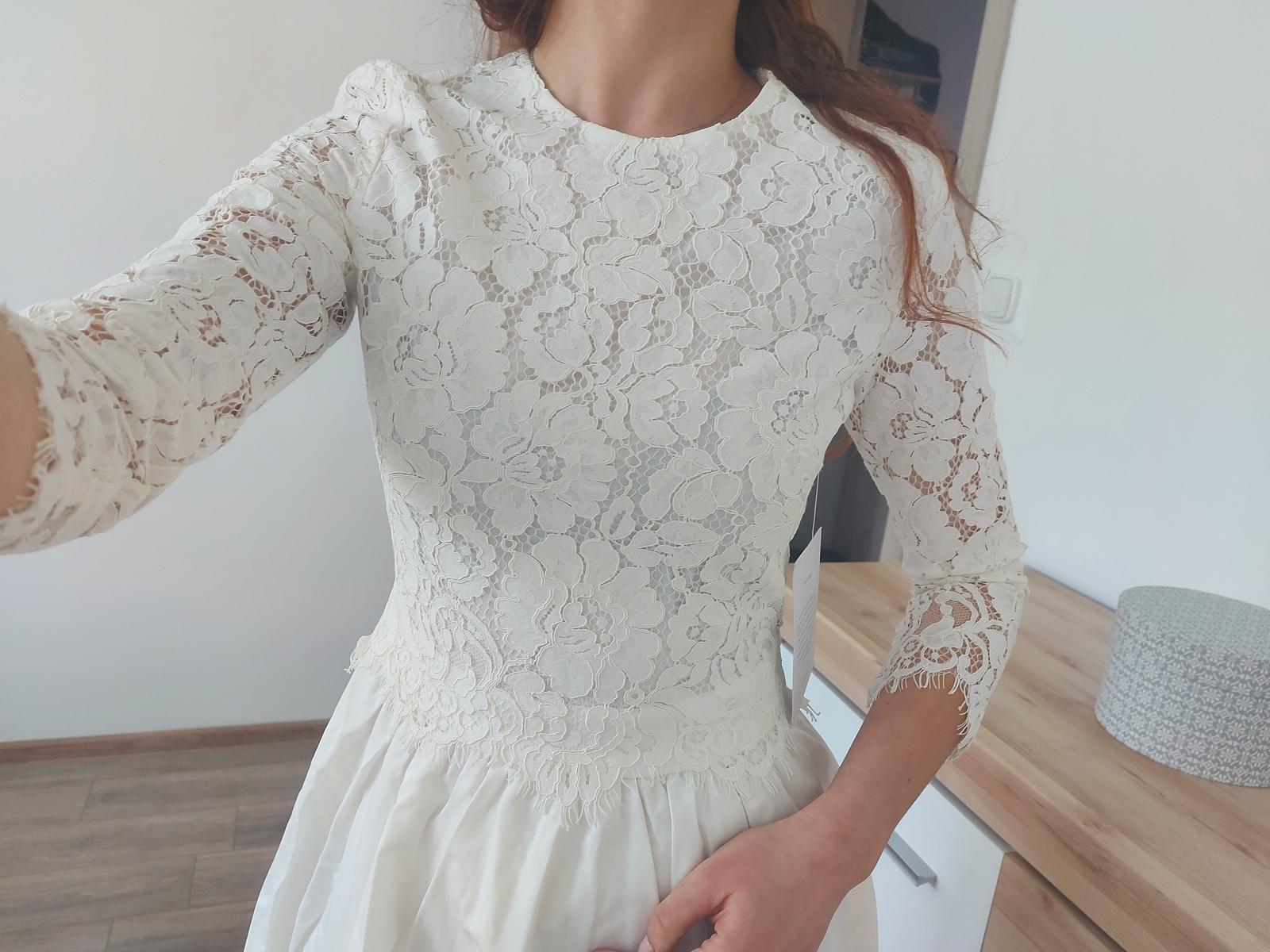 Midi svadobné/popolnočné šaty - Obrázok č. 1