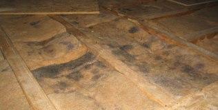 Nástrahy pri zateplení - Pleseň na izolačnom materiáli z dôvodu nesprávneho záklopu nad tepelnou izoláciou ako aj špáry pri uložení izolantu