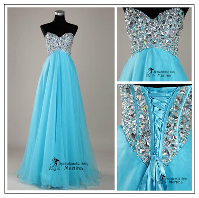 Spoločenské šaty na ples, do tanečných či pre družičky :) - Obrázok č. 3