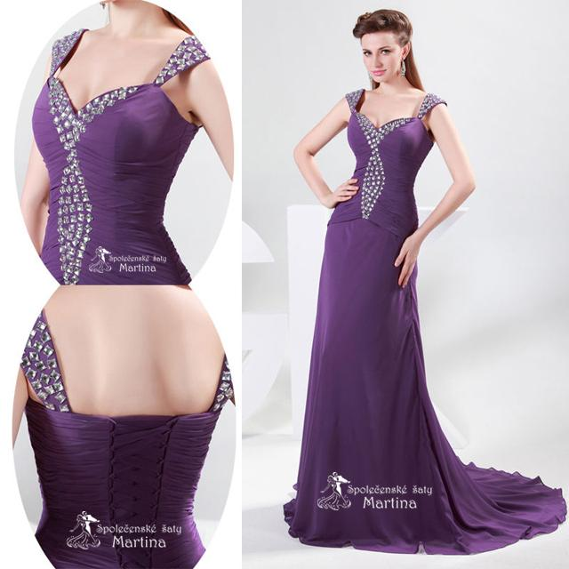 Nádherné plesové šaty :) Doba dodania 2 týždne! - Obrázok č. 4