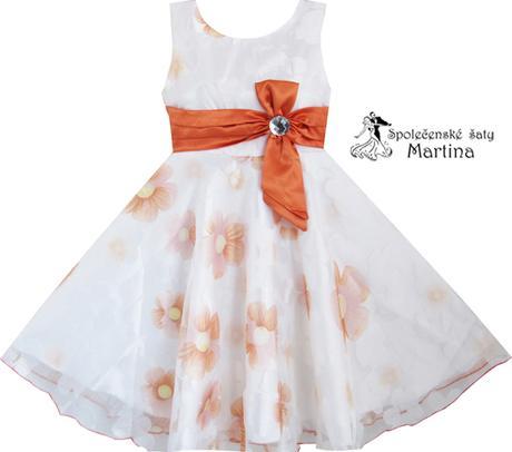 Spoločenské šaty pre družičku 4-12 rokov  - Obrázok č. 1