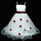 Spoločenské šaty pre družičku 1-6 rokov , 92