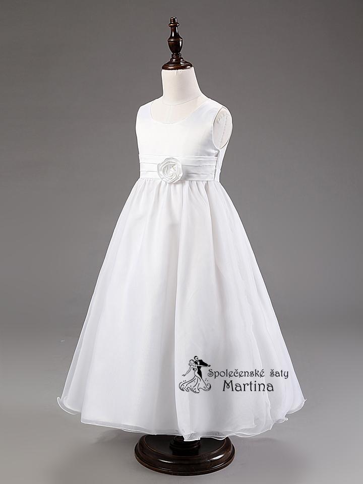 Spoločenské šaty pre družičku 3-9 rokov - Obrázok č. 3