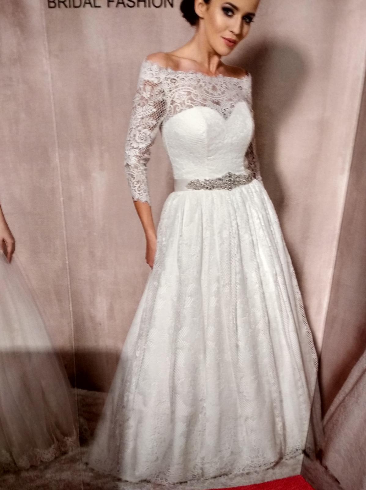 Svadobné šaty pre nízku nevestu - Obrázok č. 4