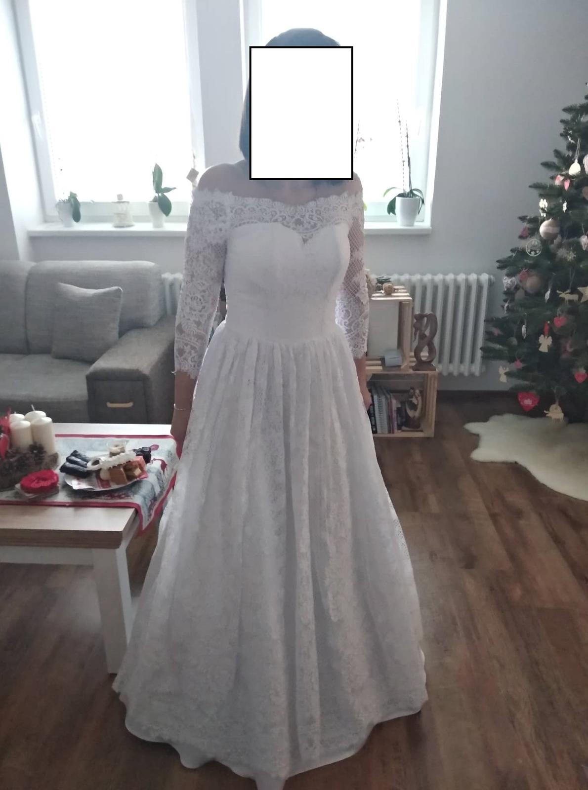 Svadobné šaty pre nízku nevestu - Obrázok č. 2