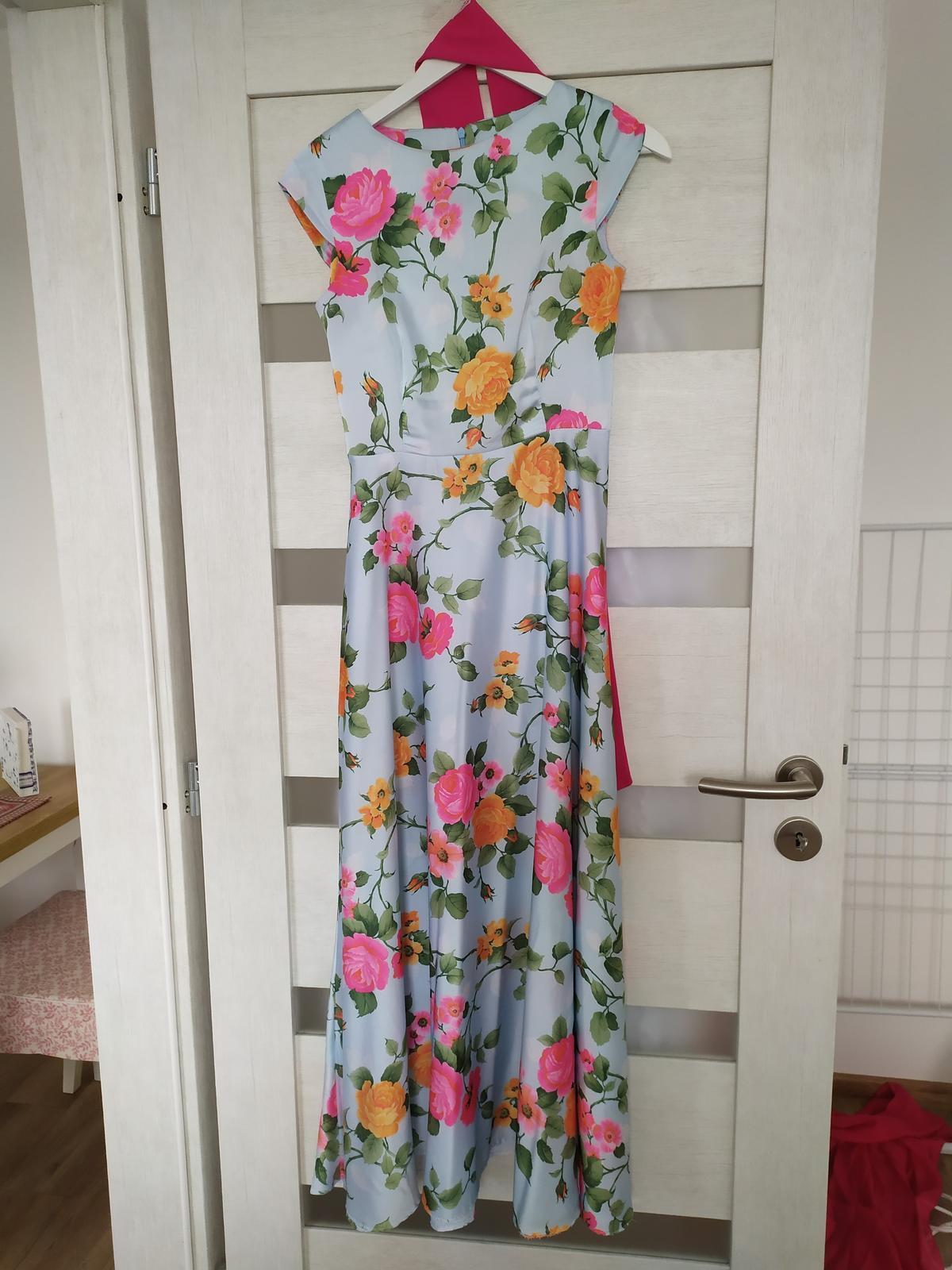 Dlhé kvietkované šaty - Obrázok č. 3