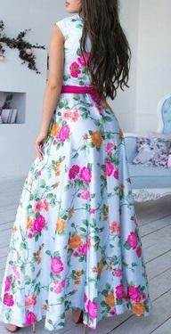 Dlhé kvietkované šaty - Obrázok č. 1