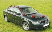 Luxusná svadobná výzdoba na svadobné auto ,