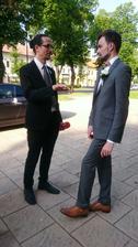 Som rada, ze prisiel na hostinu aj moj uzasny kolega Jurko, ktory nam urobil nadhernu pamiatku na nas den D.